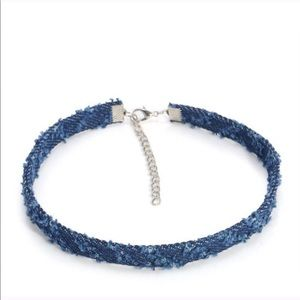 Denim choker brand new